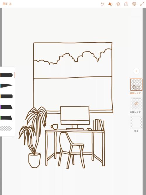 【ipad】Adobe illustrator Drawでイラストを描く 線を引く