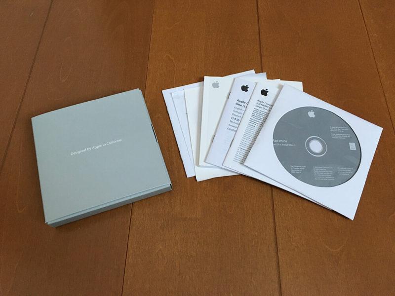 Macmini(2006)のPCリサイクルマーク