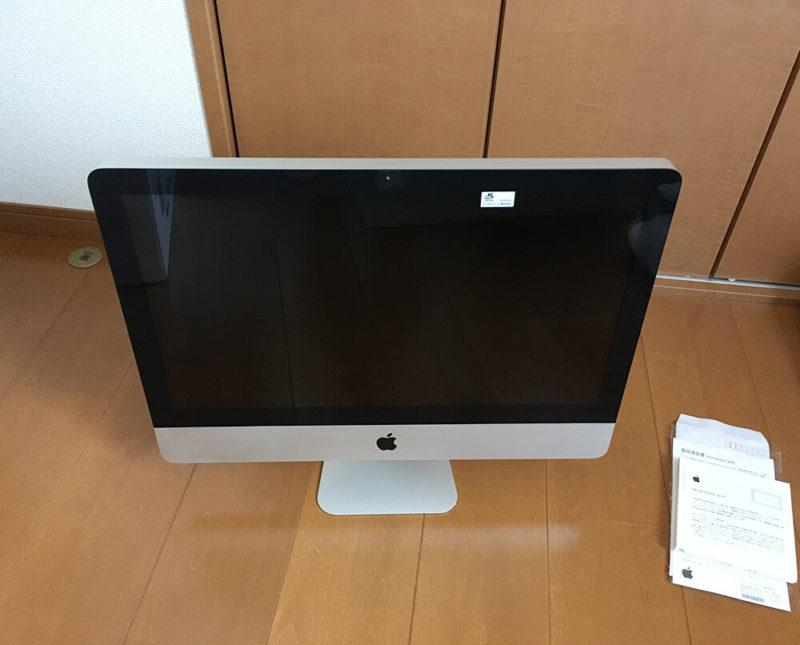 iMacにPCリサイクルマークを貼付