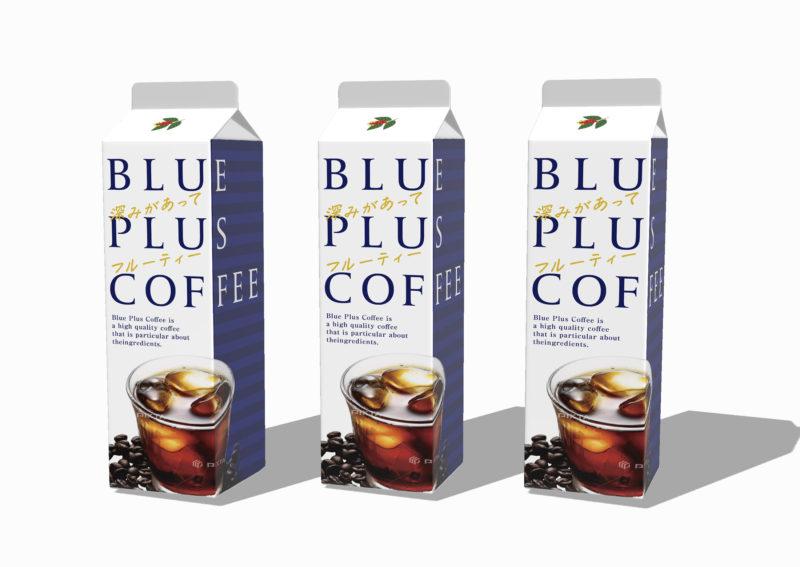 アイスコーヒーの紙パックデザイン