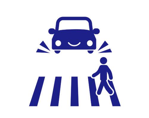 横断歩道停止シンボルマーク