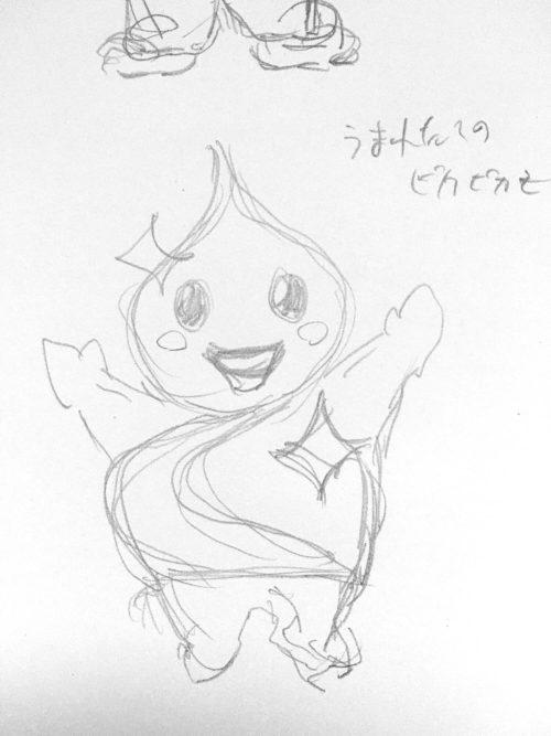 豊川マスコットキャラクターのラフ案